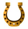 golden horseshoe image vector image vector image
