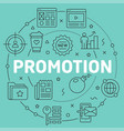 green line flat circle promotion vector image vector image