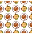 Halloween meal seamless pattern vector image vector image