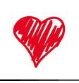 heart icon sketches design vector image