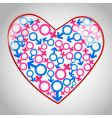 heart with male female icons vector image vector image