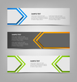 Horizontal banners with abstract colored arrows vector image vector image