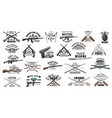 hunting and military ammunition guns shop vector image vector image
