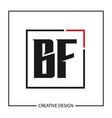 initial letter bf logo template design vector image