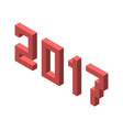 isometric 2017 year isolated vector image vector image