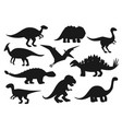 jurassic park dinosaurs dino monsters reptiles vector image