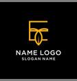 letter e leaf logo vector image vector image