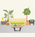 living room with furniture cartoon vector image vector image
