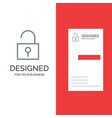 lock unlocked user interface grey logo design and vector image