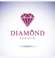 luxury faceted decorative element glossy diamond vector image vector image