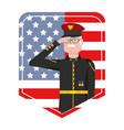 marine force man design vector image