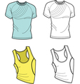 men t-shirt and football shirt vector image vector image