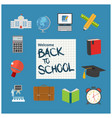 modern school background with place for your text vector image