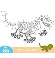 numbers game education game for children gecko vector image vector image