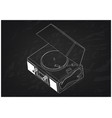 record player on a black background vector image