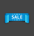 sale ribbon icon discount sold sticker label on vector image