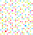seamless dots vector image vector image