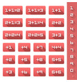 set additions numbers vector image