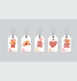 set autumn gift box tags with fall vector image
