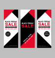 set black friday sale banners flyer template vector image vector image