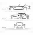 set vintage classic sports car silhouettes vector image vector image