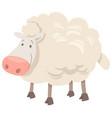 sheep animal character cartoon vector image vector image