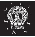 Skeleton and bones vector image vector image