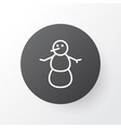 snowman icon symbol premium quality isolated vector image vector image