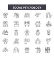 social psychology line icons signs set vector image vector image