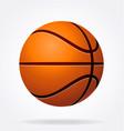 stylized shaded basketball vector image vector image
