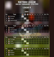summary table football championship vector image vector image