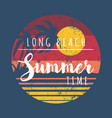 summer time in long beach vector image vector image