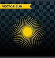 sun burst star icon summer vector image vector image