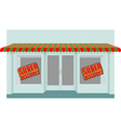 Super sale at store Shop building with empty vector image vector image