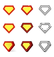Superhero icons set vector image
