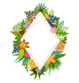 tropical flowers frames vector image vector image