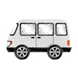 van vehicle isolated icon vector image vector image