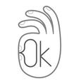 Gesture OK Hand symbol vector image