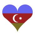azerbijan flag with heart vector image