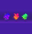 abstract design set liquid shapes fluid vector image vector image