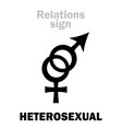astrology heterosexual straight vector image vector image