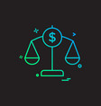 balance finance money scale icon design vector image