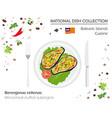 balearic islands cuisine european national dish vector image vector image
