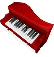 big red piano vector image vector image