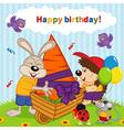 birthday rabbit vector image vector image