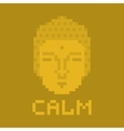 Calm pixel buddha vector image vector image