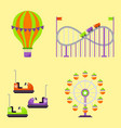 carousels amusement attraction park side-show kids vector image vector image