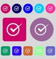 Check mark sign icon Checkbox button 12 colored vector image