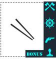 chopsticks icon flat vector image