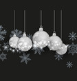 christmas ball silver on background vector image vector image